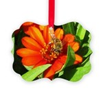 Bee on Orange Daisy Ornament