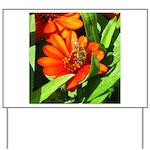 Bee on Orange Daisy Yard Sign