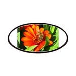 Bee on Orange Daisy Patch