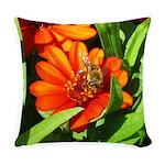 Bee on Orange Daisy Everyday Pillow