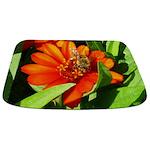 Bee on Orange Daisy Bathmat