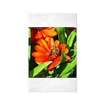 Bee on Orange Daisy Area Rug