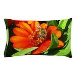Bee on Orange Daisy Pillow Case