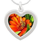 Bee on Orange Daisy Necklaces