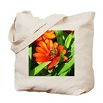 Bee on Orange Daisy Tote Bag