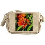 Bee on Orange Daisy Messenger Bag