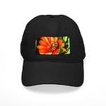 Bee on Orange Daisy Baseball Hat