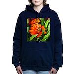 Bee on Orange Daisy Women's Hooded Sweatshirt
