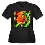 Bee on Orange Daisy Plus Size T-Shirt