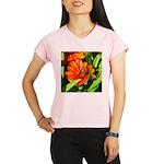 Bee on Orange Daisy Performance Dry T-Shirt