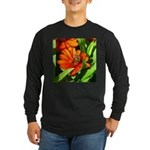 Bee on Orange Daisy Long Sleeve T-Shirt