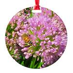 Bee on summer Milkweed Ornament