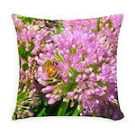 Bee on summer Milkweed Everyday Pillow