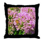 Bee on summer Milkweed Throw Pillow