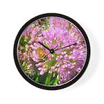 Bee on summer Milkweed Wall Clock