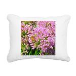 Bee on summer Milkweed Rectangular Canvas Pillow