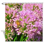 Bee on summer Milkweed Shower Curtain