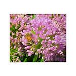 Bee on summer Milkweed Throw Blanket