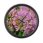 Bee on summer Milkweed Large Wall Clock