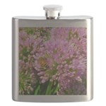 Bee on summer Milkweed Flask