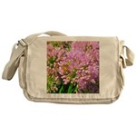 Bee on summer Milkweed Messenger Bag