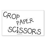 Crop Paper Scissors Rectangle Sticker
