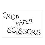Crop Paper Scissors Postcards (Package of 8)