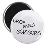 Crop Paper Scissors Magnet