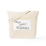 Crop Paper Scissors Tote Bag