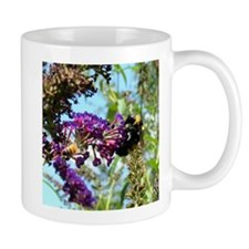 Bee on summer Milkweed Mugs