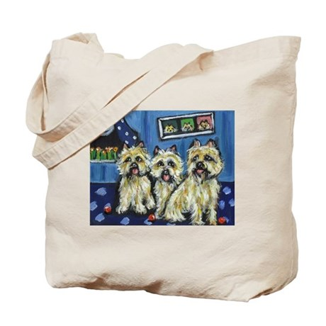 CAIRN TERRIER family moon Des Tote Bag