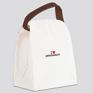I Love RETRACTABILITY Canvas Lunch Bag