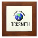World's Greatest LOCKSMITH Framed Tile