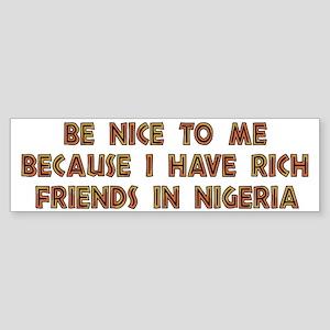 Nigerian Scammers Bumper Sticker
