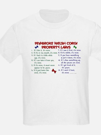 Pembroke Welsh Corgi Property Laws 2 T-Shirt