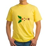 Kiss Emoticon - Mistletoe Yellow T-Shirt
