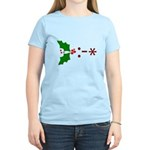 Kiss Emoticon - Mistletoe Women's Light T-Shirt