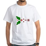 Kiss Emoticon - Mistletoe White T-Shirt