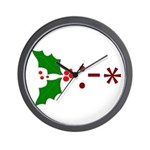 Kiss Emoticon - Mistletoe Wall Clock