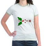 Kiss Emoticon - Mistletoe Jr. Ringer T-Shirt