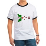 Kiss Emoticon - Mistletoe Ringer T