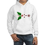 Kiss Emoticon - Mistletoe Hooded Sweatshirt