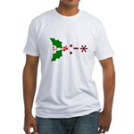 Kiss Emoticon - Mistletoe Fitted T-Shirt