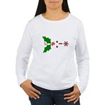 Kiss Emoticon - Mistletoe Women's Long Sleeve T-Sh