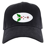 Kiss Emoticon - Mistletoe Black Cap
