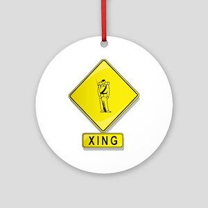 Civil War Reenactor XING Ornament (Round)