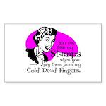 Cold Dead Fingers Rectangle Sticker