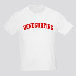 Windsurfing (red curve) Kids Light T-Shirt