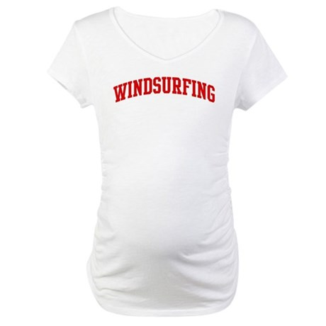Windsurfing (red curve) Maternity T-Shirt