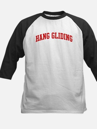Hang Gliding (red curve) Kids Baseball Jersey